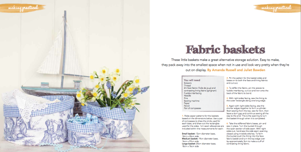 Fabric Easter buckets Making Magazine April issue